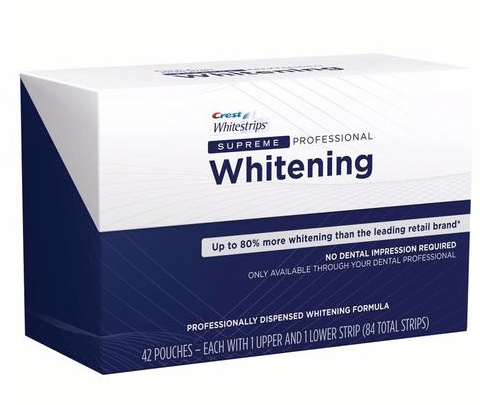 Crest Whitestrips Supreme Professional Whitening 84 strips 42 pouches